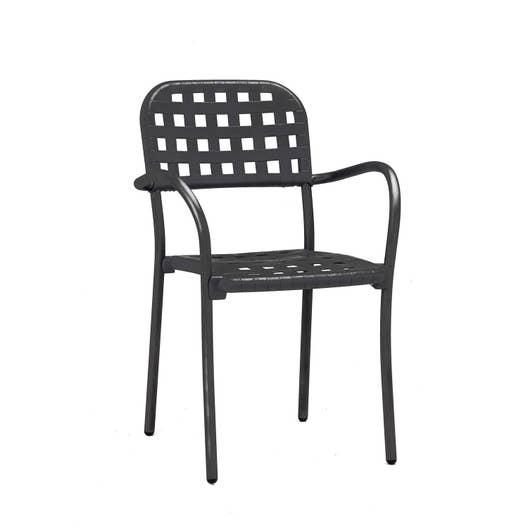 fauteuil de jardin en r sine plastique aurora gris. Black Bedroom Furniture Sets. Home Design Ideas
