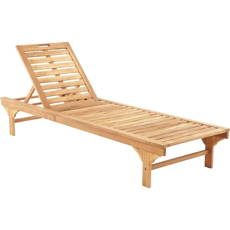 671f2fe4a9796 Bain de soleil de jardin en bois Porto brun ...