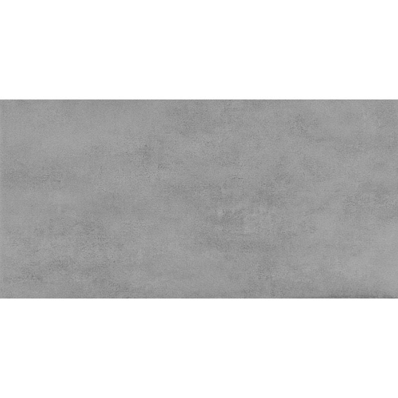Carrelage sol et mur gris clair effet béton Welcome l.30 x L.60.4 cm ...