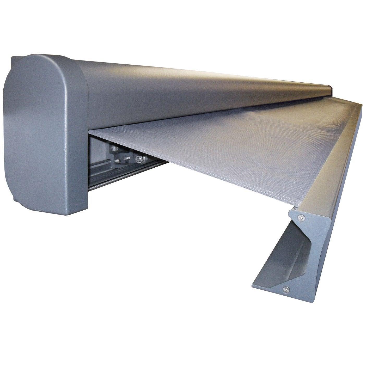 store banne motoris gold xxl coffre int gral 7 x 4 m p128 zinc gris zingu leroy merlin. Black Bedroom Furniture Sets. Home Design Ideas