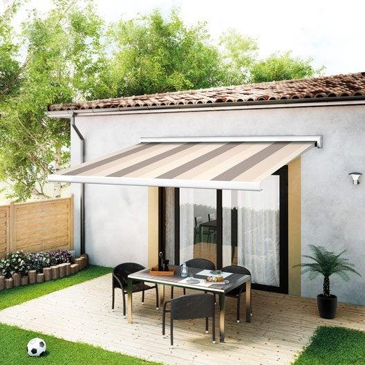 store banne manuel rio2 coffre int gral 4 x 3 m t14 villette naturel leroy merlin. Black Bedroom Furniture Sets. Home Design Ideas