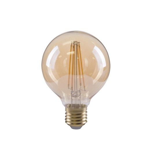 Ampoule filament LED globe vintage E27 3.5W = 300Lm (équiv 28W) 2000K LEXMAN