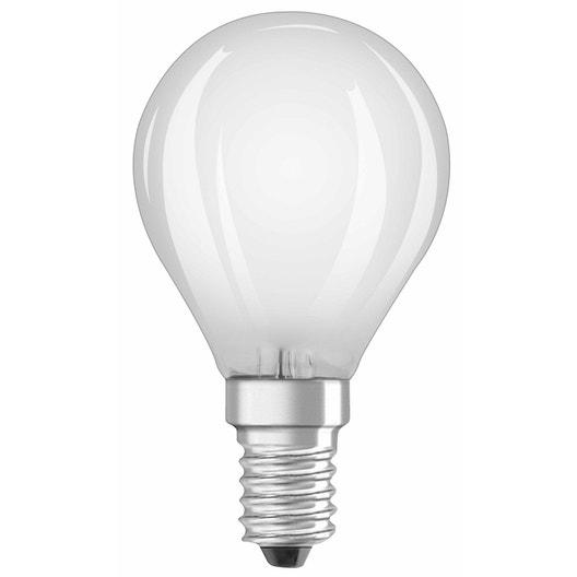 ampoule led ronde e14 4w 470lm quiv 40w 4000k osram. Black Bedroom Furniture Sets. Home Design Ideas