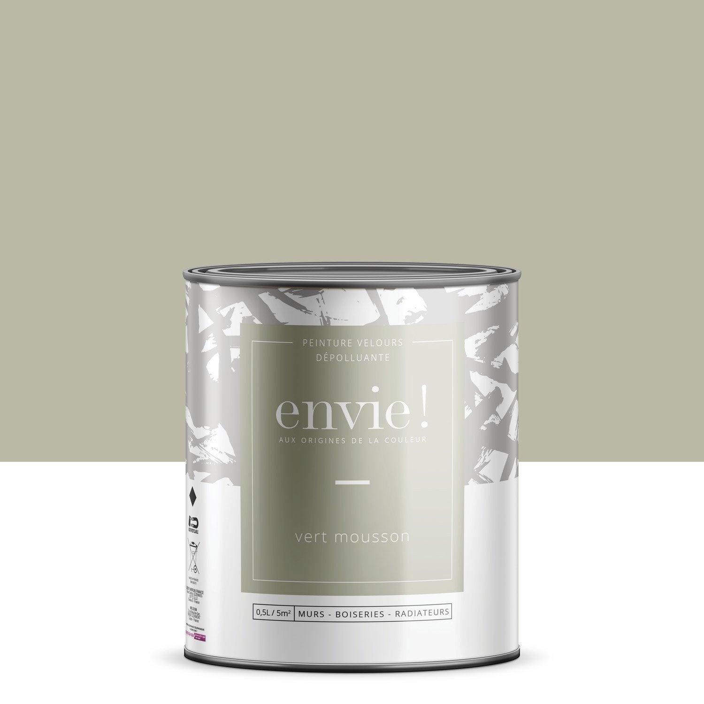 Peinture mur, boiserie, radiateur Multisupports ENVIE, vert mousson, 0.5 l, velo