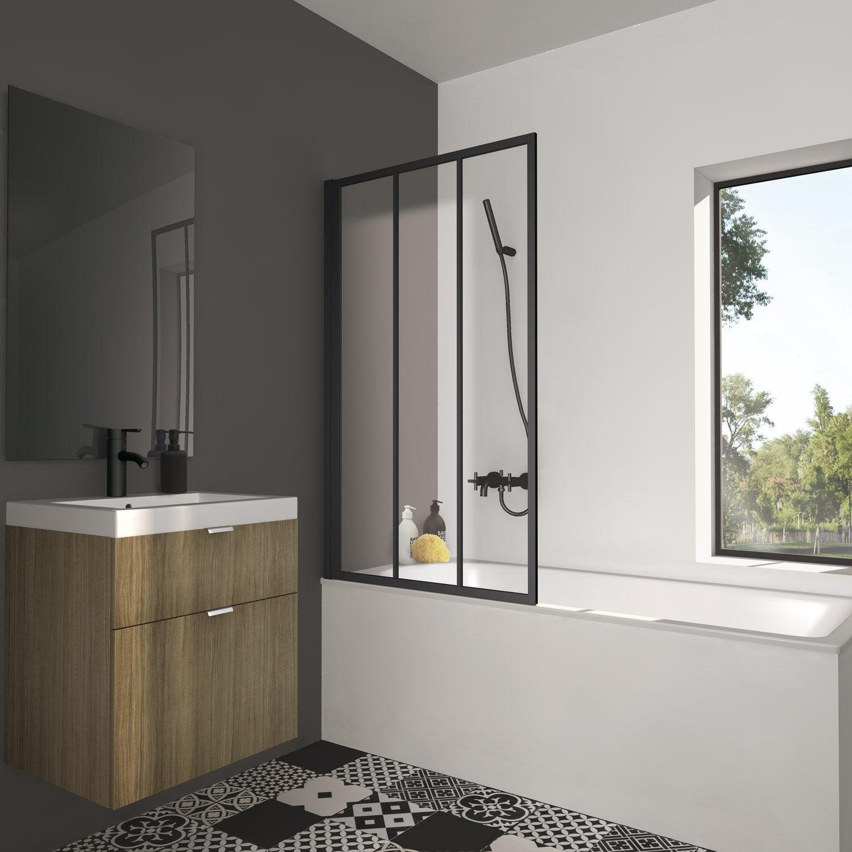 pare baignoire 1 volet pivotant cm x cm verre. Black Bedroom Furniture Sets. Home Design Ideas