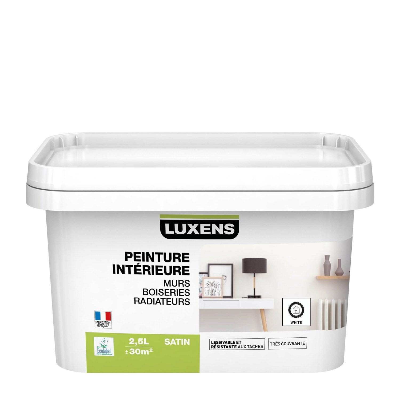 Peinture mur, boiserie, radiateur Multisupports LUXENS blanc satiné 2.5 l