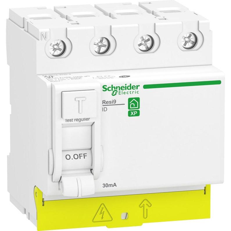 Interrupteur Différentiel 4p Schneider Electric 30 Ma 63 A Type Ac