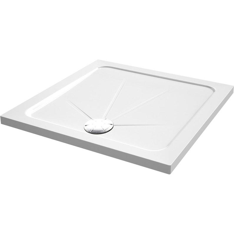 Receveur De Douche Carre L 90 X L 90 Cm Acrylique Blanc Opus