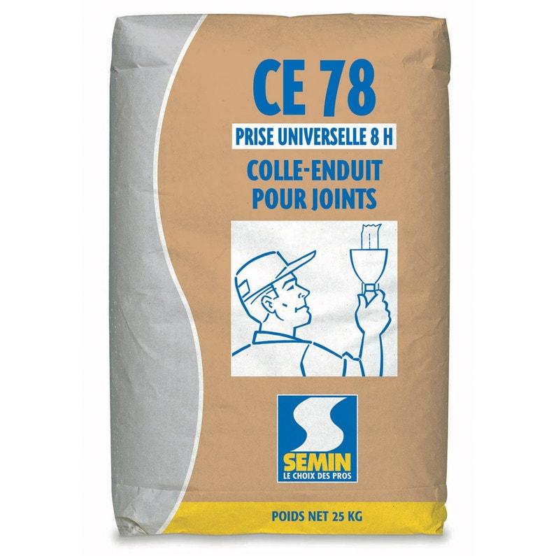 Enduit Colle à Joint Pour Plaque De Plâtre Blanc Semin 25 Kg