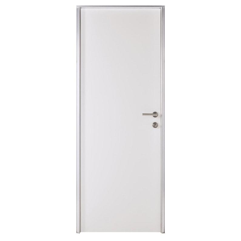 Bloc Porte Invisible Valse Blanc H204 X L73 Cm Poussant Droit Et Gauche