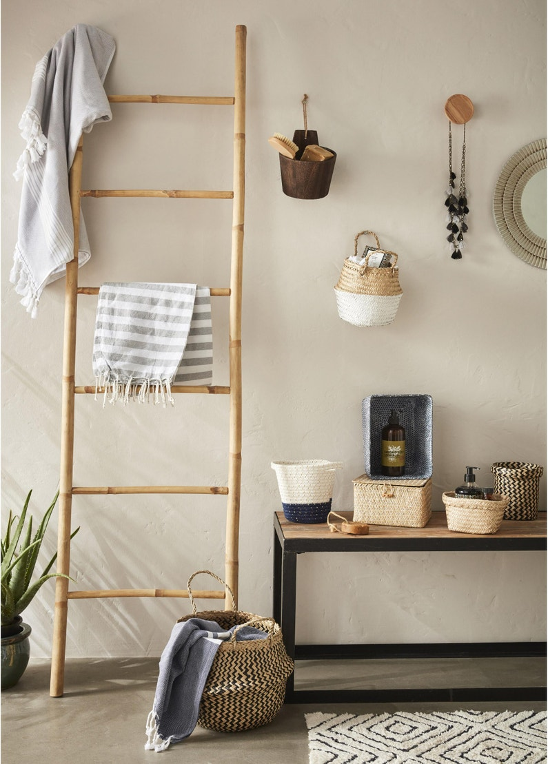 Salle De Bain Deco Bambou porte-serviettes à poser, bambou