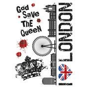 Sticker Union jack 47 cm x 67 cm