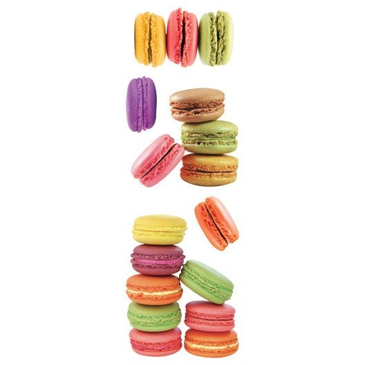 Sticker macarons 23 5 cm x 67 cm leroy merlin for Stickers muraux cuisine leroy merlin