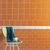 Faïence mur orange tangine, Astuce l.20 x L.20 cm