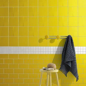 Décor Astuce jaune anis n°4, l.20 x L.20 cm
