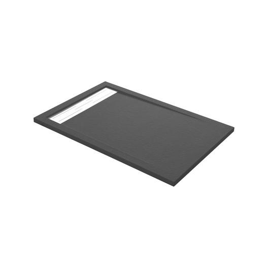 receveur de douche rectangulaire maja en résine 80x120 cm