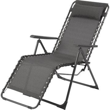 Relax de jardin en acier Lagon gris ... cb2f5221a805