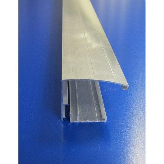 profil bordure pour plaque ep 16 32 mm aluminium l 4 m leroy merlin. Black Bedroom Furniture Sets. Home Design Ideas