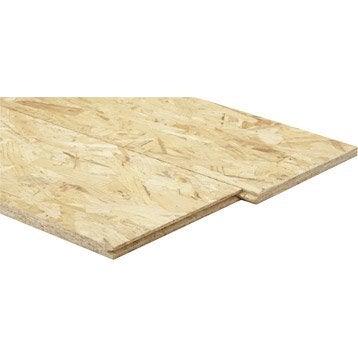 Dalle de plancher osb 3 3 plis épicéa naturel, Ep.16 mm x L.250 x l.67.5 cm