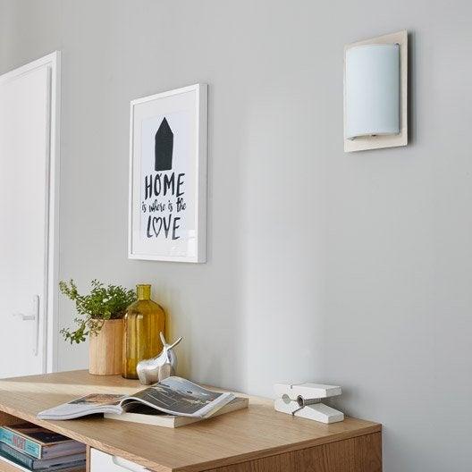 Applique design e27 georg verre blanc 1 inspire leroy for Applique lumineuse cuisine