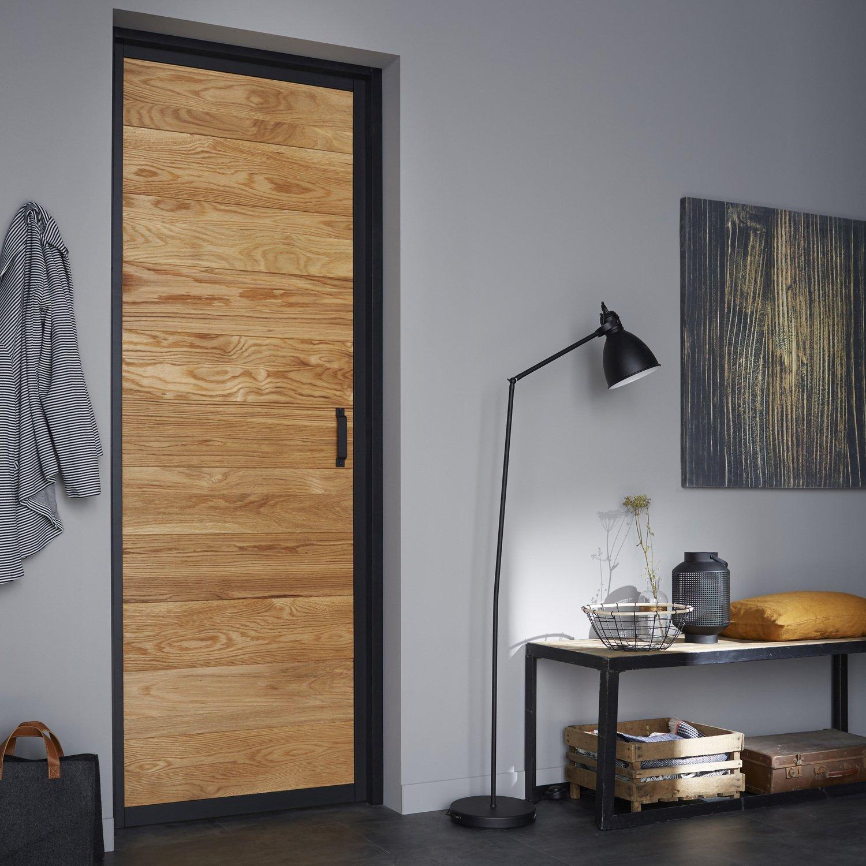 Une porte int rieure qui parfait le style indus 39 de la pi ce leroy merlin - Porte en applique lapeyre ...