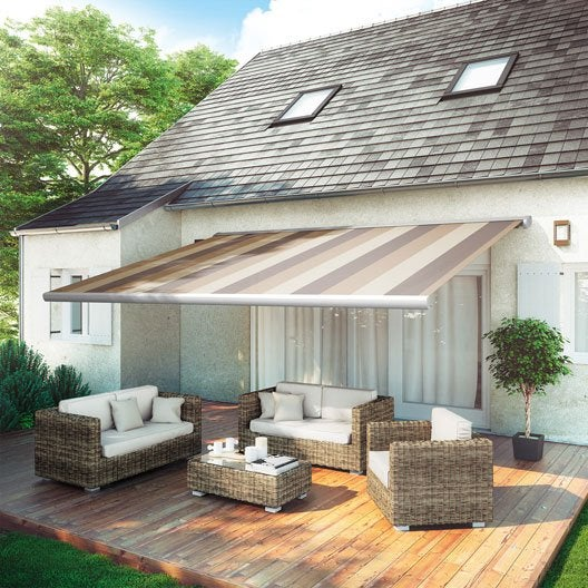 store banne store terrasse store banne sur mesure au meilleur prix leroy merlin. Black Bedroom Furniture Sets. Home Design Ideas