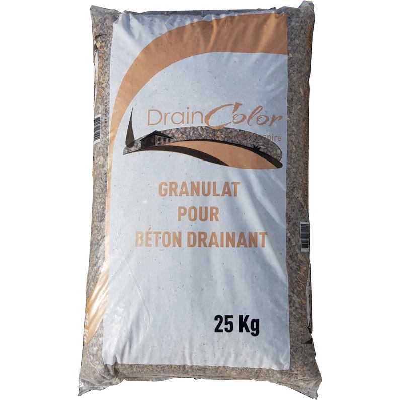 Granulats Spécifiques Pour Béton Drainant Draincolor En Sac 25 Kg