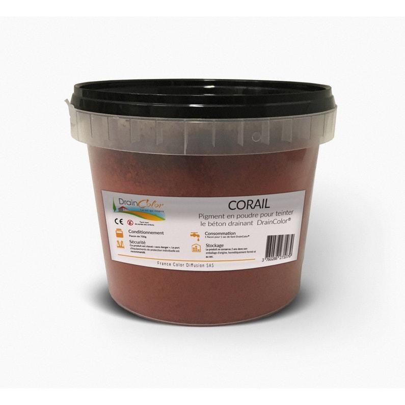 Colorant Béton Drainant Draincolor Couleur Corail 700 G