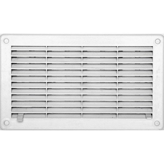 Grille d 39 a ration abs naturel x cm leroy merlin - Grille aeration reglable ...