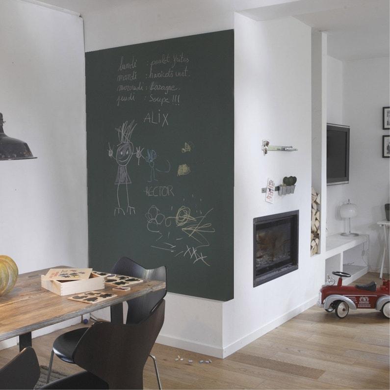 Peinture tableau craie vert mat MAISON DECO Gribouille 0.5 l | Leroy ...