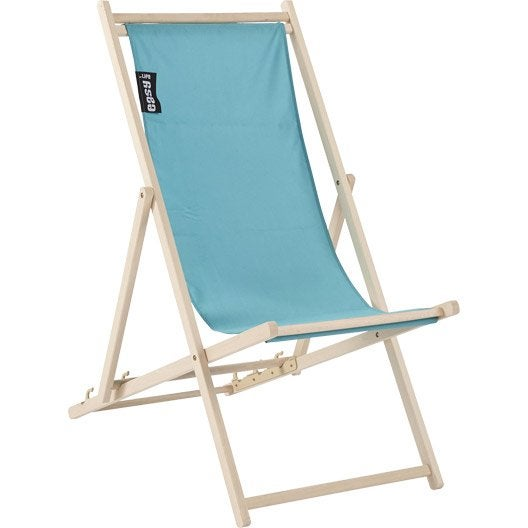 chilienne de jardin en tissu pratik bleu lagon leroy merlin. Black Bedroom Furniture Sets. Home Design Ideas