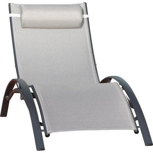 Bain de soleil transat hamac chaise longue leroy merlin - Bain de soleil en aluminium ...