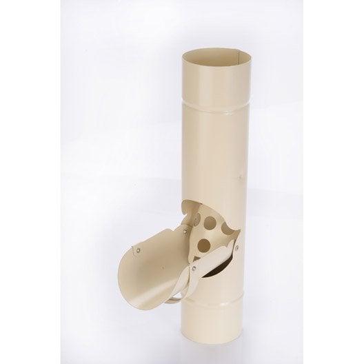 récupérateur d'eau de pluie acier laqué sable scover plus diam.90