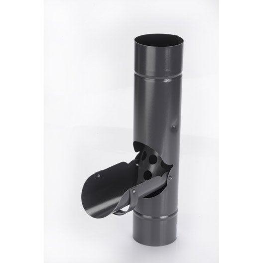 récupérateur d'eau de pluie acier laqué ardoise scover plus diam