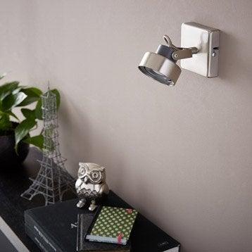 Spot patère led, 1 x LED intégrée, acier Poros INSPIRE