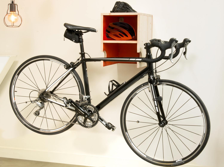 Accroche Velo concernant diy : réaliser un porte-vélo mural en bois | leroy merlin