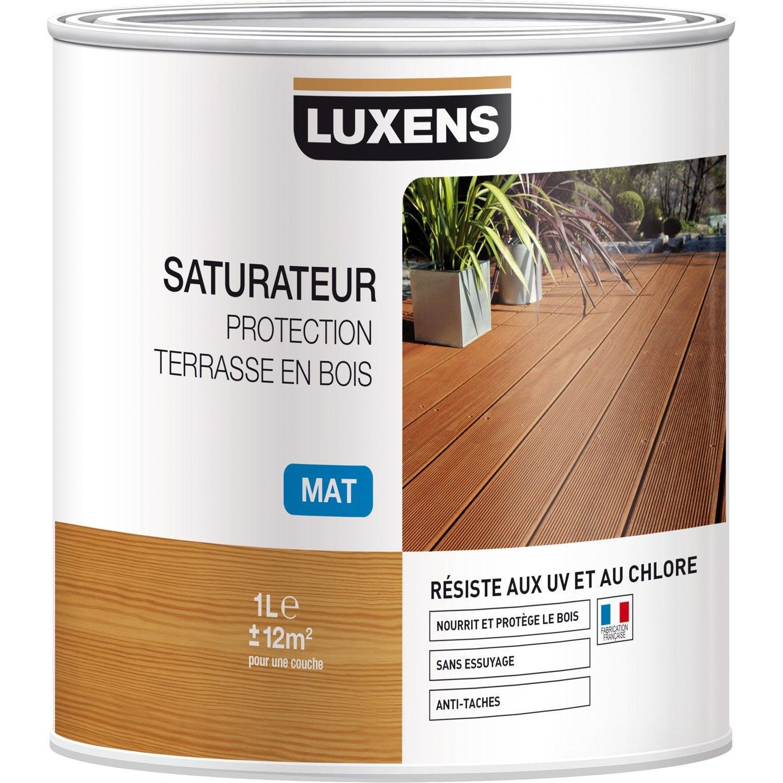 saturateur luxens saturateur protection terrasse en bois 1 l naturel leroy merlin. Black Bedroom Furniture Sets. Home Design Ideas