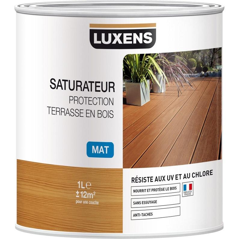 Saturateur Luxens Saturateur Protection Terrasse En Bois 1 L