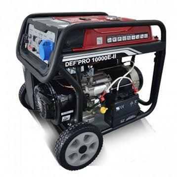 Groupe électrogène essence de chantier Def'pro 10000, 7500 W
