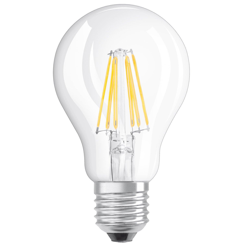 Osram Ampoule Led Retrofit Standard E27 4w 40w A: Ampoule LED Filament Standard E27 4W = 470Lm (équiv 40W