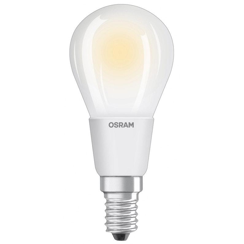ampoule led dimmable ronde e14 5w = 470lm (équiv 40w) 2700k osram