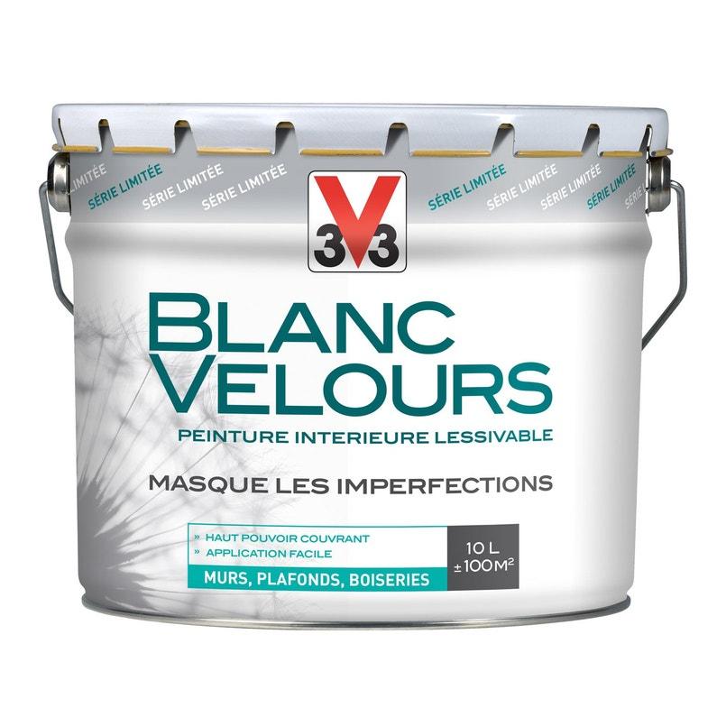 Peinture Intérieure Blanc Velours Mat 10l Mur Plafond Et Boiserie V33