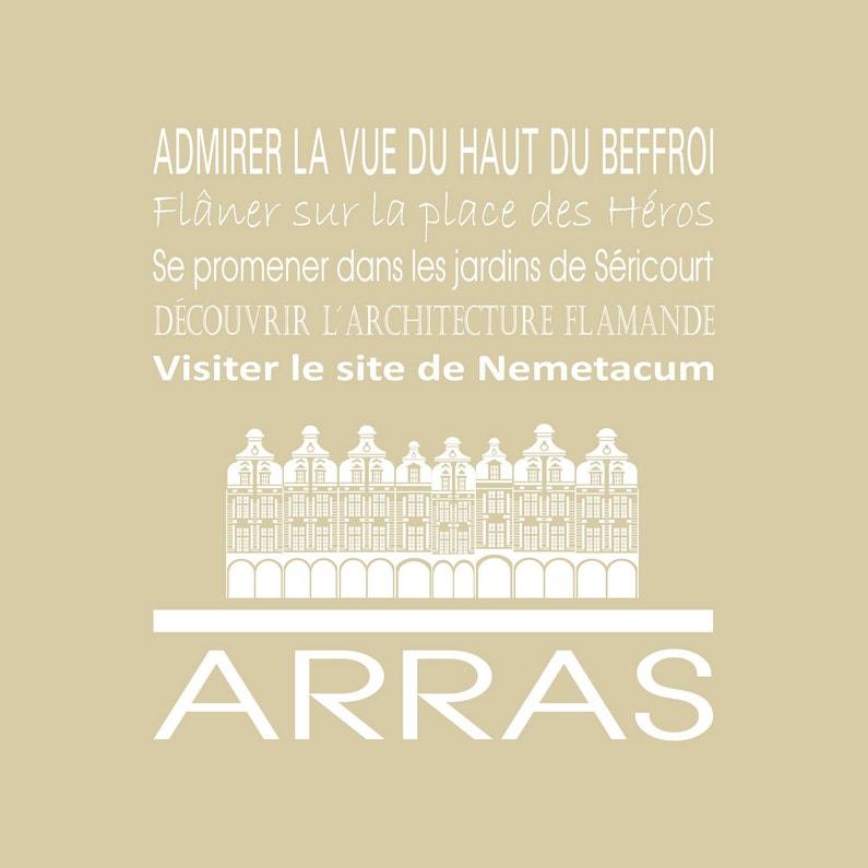Toile Imprimée Arras Beige Artis L30 X H30 Cm