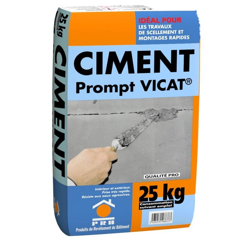 Ciment Naturel Prompt Vicat 25 Kg Nf