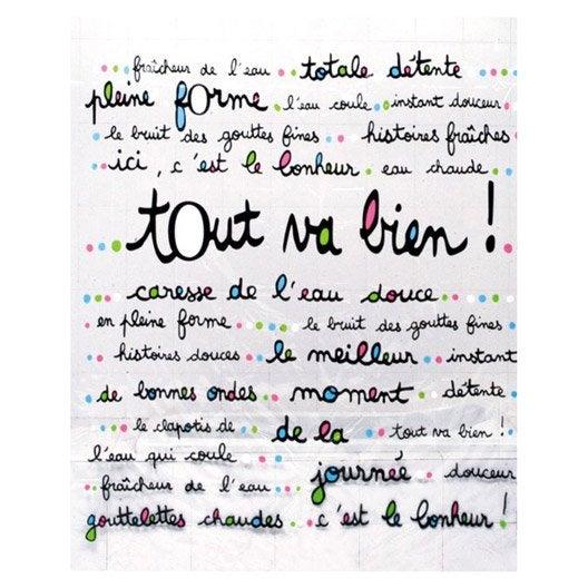 Rideau de douche en plastique multicolore x cm - Rideau de douche leroy merlin ...