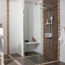 Douche salle de bains leroy merlin for Rideau de douche moderne