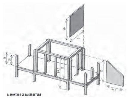 Cr er un poulailler avec un toit v g tal leroy merlin - Plan de poulailler gratuit a telecharger ...