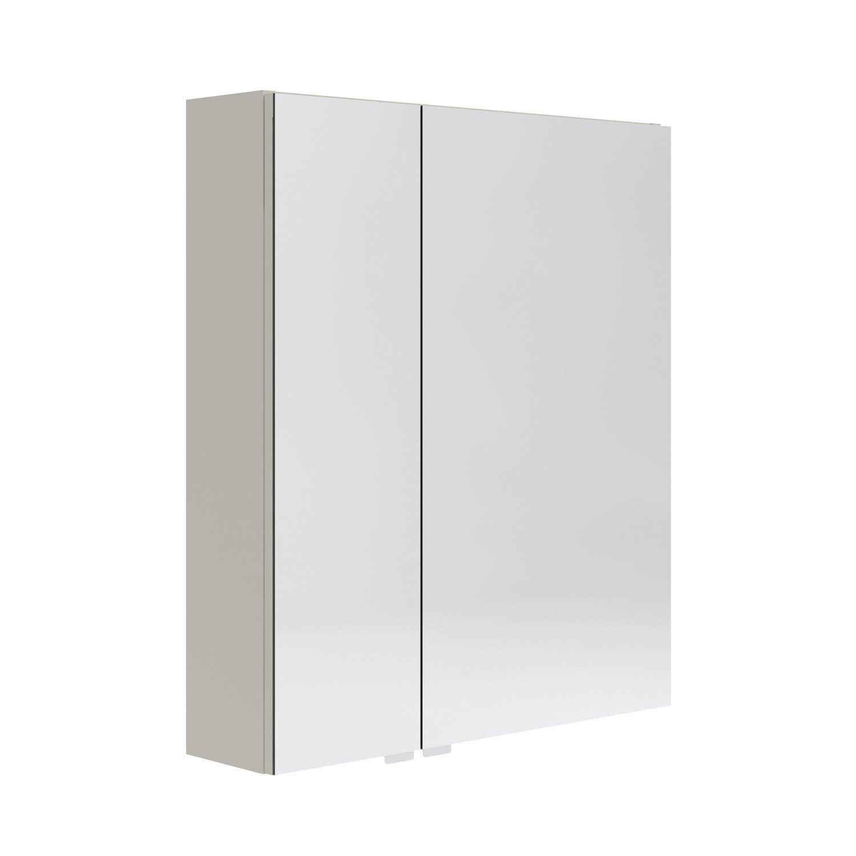 armoire de toilette l 60 cm beige opale leroy merlin. Black Bedroom Furniture Sets. Home Design Ideas