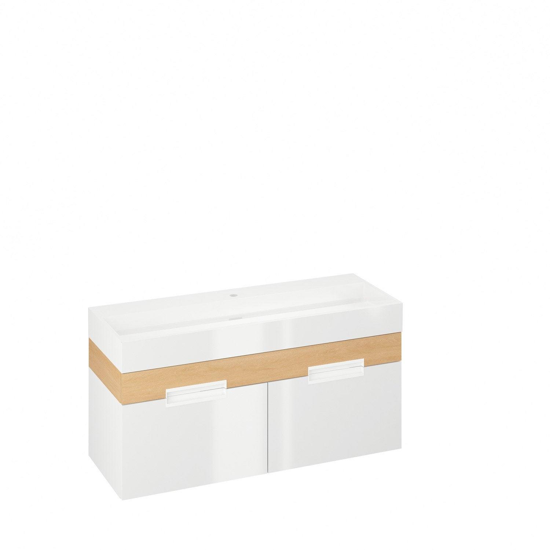 Meuble vasque 120 cm blanc eden leroy merlin - Meuble vasque 120 cm ...