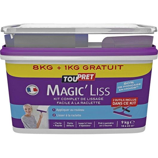 enduit de lissage pte magic liss blanc toupret 8 kg